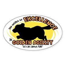 The Secret to Golden Agility Oval Decal