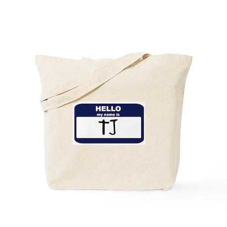 My Name is TJ Tote Bag