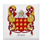 Arrais Family Crest Tile Coaster