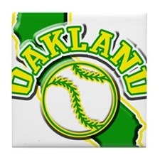 Oakland Baseball Tile Coaster