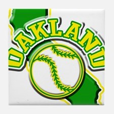 Oakland Baseball Tile Coaster