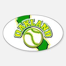 Oakland Baseball Oval Decal
