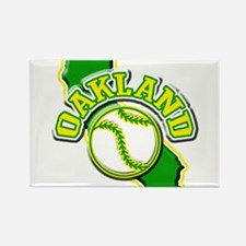Oakland Baseball Rectangle Magnet