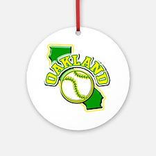 Oakland Baseball Ornament (Round)