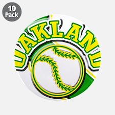"""Oakland Baseball 3.5"""" Button (10 pack)"""