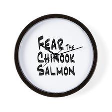 Fear the Chinook Salmon Wall Clock