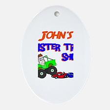 John's Monster Truck Oval Ornament