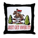 Jumping Horse Throw Pillow