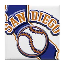 San Diego Baseball Tile Coaster