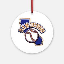 San Diego Baseball Ornament (Round)