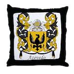 Azevedo Family Crest Throw Pillow