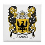 Azevedo Family Crest Tile Coaster