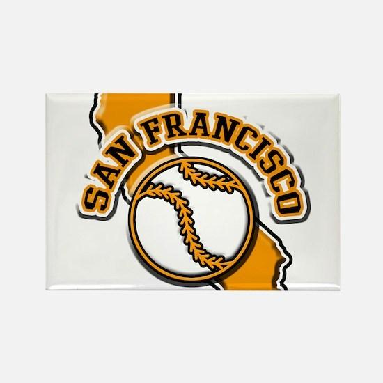 San Francisco Baseball Rectangle Magnet