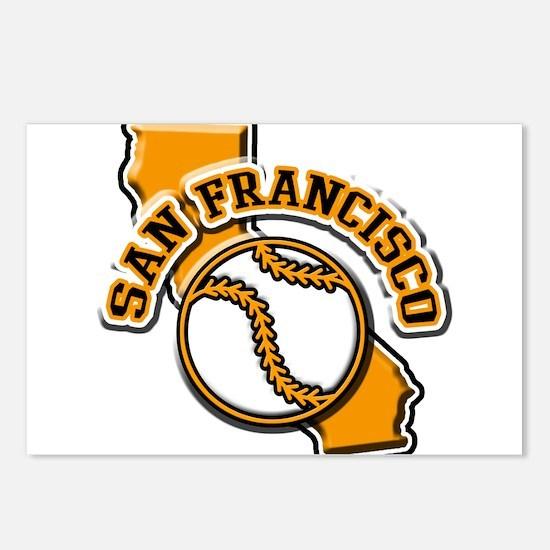 San Francisco Baseball Postcards (Package of 8)