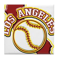 Los Angeles Baseball Tile Coaster