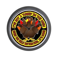 Turkey in the Oven Wall Clock