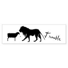 Twilight Lion and Lamb is Trouble Bumper Bumper Sticker
