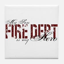 My Son My Hero - Fire Dept Tile Coaster