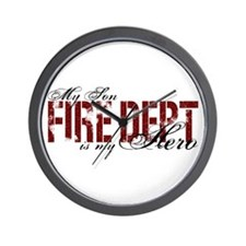 My Son My Hero - Fire Dept Wall Clock