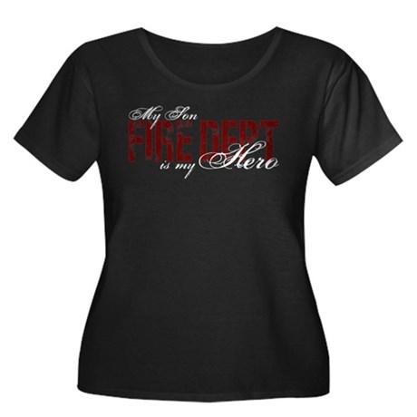 My Son My Hero - Fire Dept Women's Plus Size Scoop