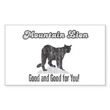 Mountain Lion is Good for You Rectangle Decal