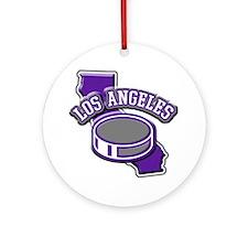 Los Angeles Hockey Ornament (Round)
