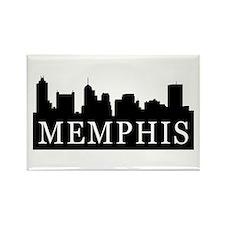 Memphis Skyline Rectangle Magnet