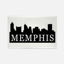 Memphis Skyline Rectangle Magnet