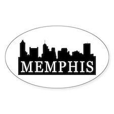 Memphis Skyline Oval Decal