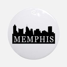 Memphis Skyline Ornament (Round)