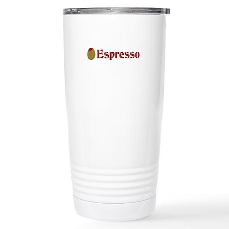 Olive (I Love) Espresso Stainless Steel Travel Mug