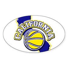 California Basketball Oval Decal