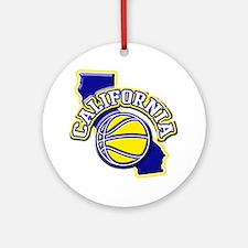 California Basketball Ornament (Round)