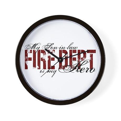 My Son-in-law My Hero - Fire Dept Wall Clock