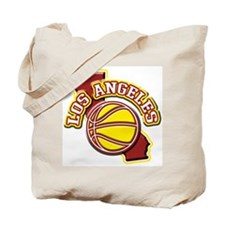 Los Angeles Basketball Tote Bag