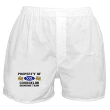 Property of Conselor Drinking Team Boxer Shorts