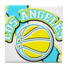 Los Angeles Basketball Tile Coaster