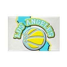 Los Angeles Basketball Rectangle Magnet