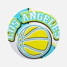 Los Angeles Basketball Ornament (Round)