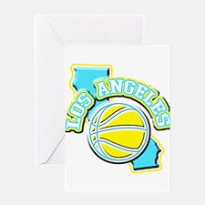 Los Angeles Basketball Greeting Card