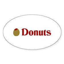 Olive (I Love) Donuts Oval Decal