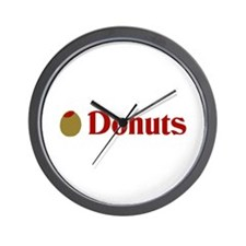 Olive (I Love) Donuts Wall Clock