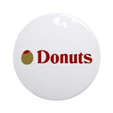 Olive (I Love) Donuts Ornament (Round)