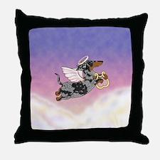 Silver Dapple Dachshund Angel Throw Pillow