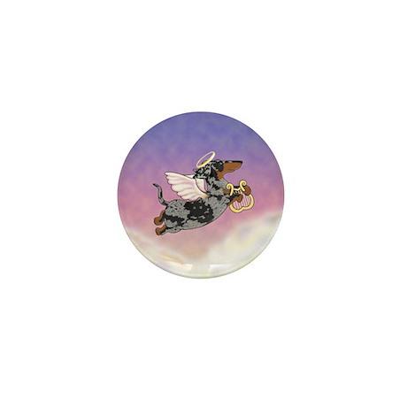 Silver Dapple Dachshund Angel Mini Button