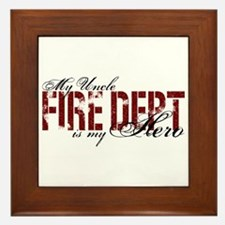 My Uncle My Hero - Fire Dept Framed Tile