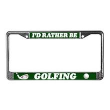 Golfing License Plate Frame