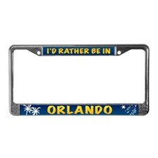I'd Rather be in Orlando License Plate Frame