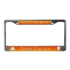 I'd Rather be in Napa Valley License Plate Frame