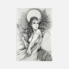 InkWitch Goddess Diana Rectangle Magnet